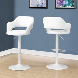 Monarch Specialties White Metal Barstool