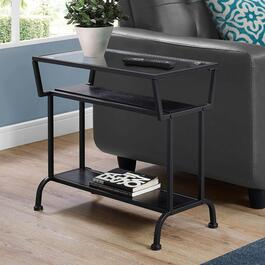 Monarch Specialties Tempered Glass Accent Table - 22in.