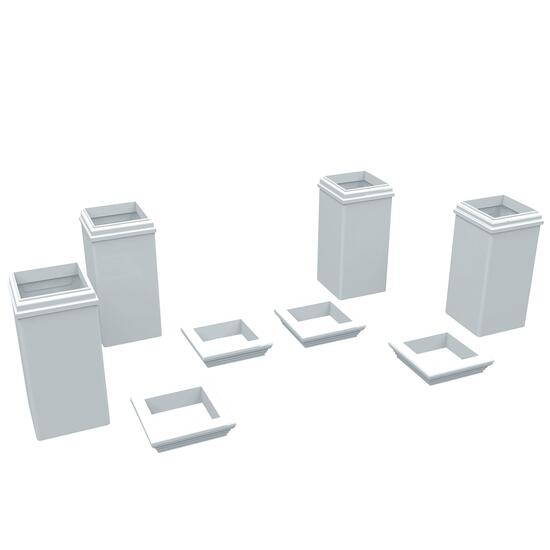 New England Arbors Trim Kit for 4x4 Posts - 8pc.