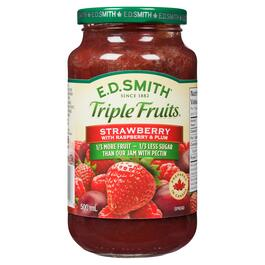 E.D. Smith Triple Fruits Spread Strawberry with Raspberry and Plum - 500ml
