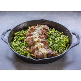 Lodge Round Seasoned Cast Iron Pan with Dual Handles - 12in.