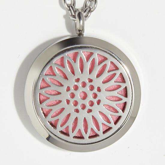 T-Zone Health Daisy Aromatherapy Locket Necklace