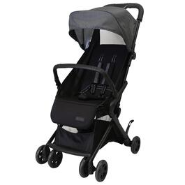 Safety 1st Cube Compact Stroller - Black and Grey Pinstripe