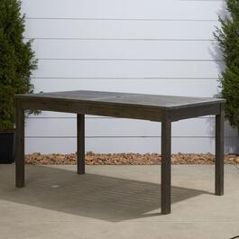 Vifah Renaissance Outdoor Patio Hand-Scraped Rectangular Dining Table