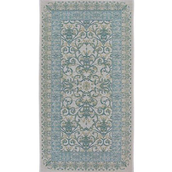 Avocado Décor Blue and Green Esterno Dio Rug - 5.3ft.x7.6ft.