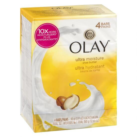 Olay Ultra Moisture with Shea Butter Beauty Bar - 4pk.