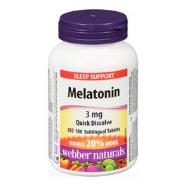 Webber Naturals Melatonin 3 mg - 180 Tablets