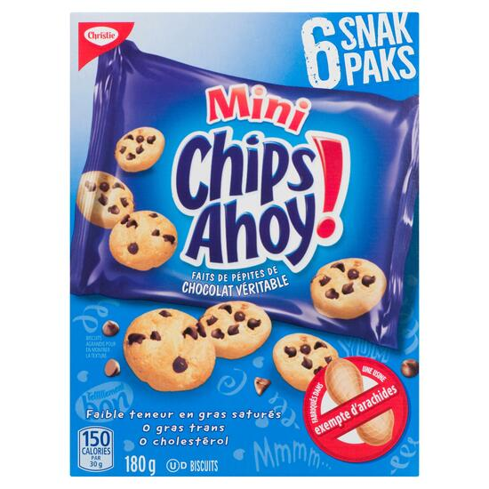Christie Chips Ahoy! Mini Cookies Snack Packs 6pk. - 180g