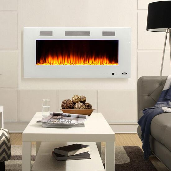 Paramount Premium Wall Mount Electric Fireplace White - 42in.