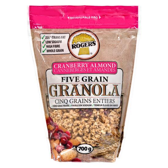 Rogers Cranberry Almond Five Grain Granola - 700g