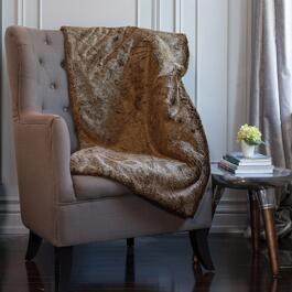 Milano Tip Brown Faux Fur Throw