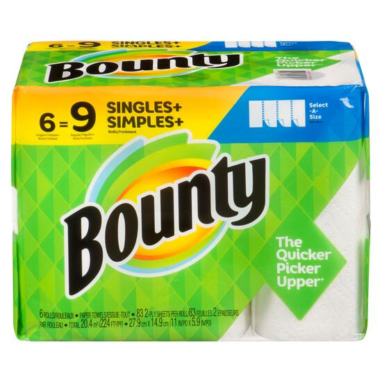 Bounty Select-A-Size Paper Towels - 6pk.