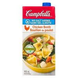 Campbell's No Salt Added Chicken Broth - 900ml