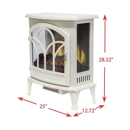 Muskoka White Curved Front Panoramic Stove Glass Front - 25in.