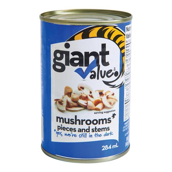Giant Value Mushrooms - 284ml