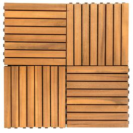 Vifah Outdoor Patio 8-Slat Interlocking Deck Tiles - 10pk.