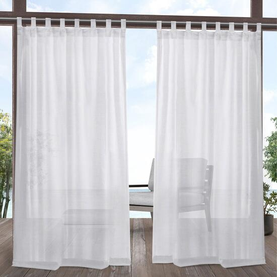 Exclusive Home Miami Textured Indoor/Outdoor Curtains 2pc. - 120in.
