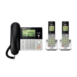 VTech 2-Handset DECT 6.0 Corded/Cordless Phone with Answering System and Caller ID - Silver