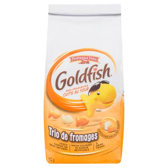 Goldfish Cheese Trio Baked Snack Crackers - 200g
