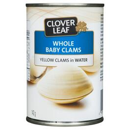 Clover Leaf Whole Baby Clams - 142g