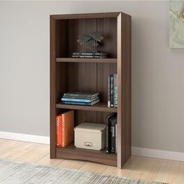 CorLiving Quadra Tall Walnut Faux Woodgrain Bookcase - 47in.