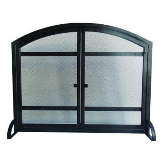 Pleasant Hearth Harper 1 Panel Fireplace Screen with Doors - 54in.