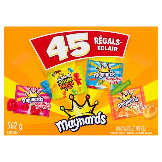 Maynards Assorted Fun-Size Treats 45pk. - 562g