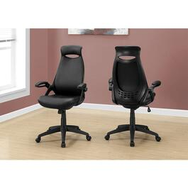 Monarch Specialties Leather-Look Office Chair - Black