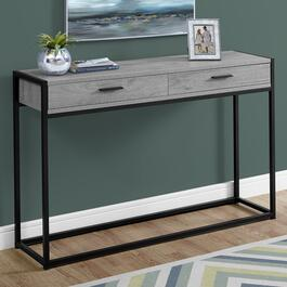 Monarch Specialties Grey and Black Console Table - 48 in.