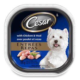 Cesar Entrées With Chicken And Veal For Small Dogs - 100g
