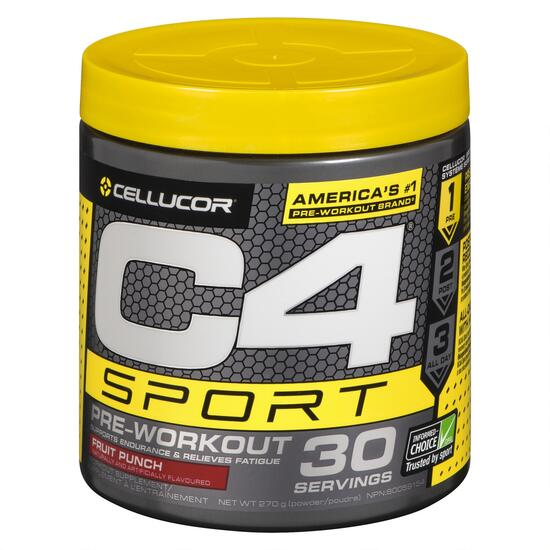 Cellucor C4 Sport Fruit Punch Workout Supplement - 270g