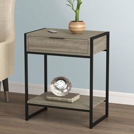Safdie & Co. Dark Taupe and Black Accent Table