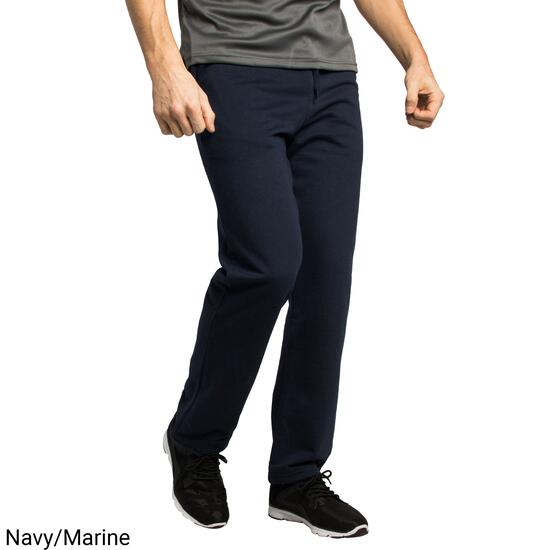 Mountain Ridge Men's Navy Fleece Pants with Hemmed Ankle - S-XL