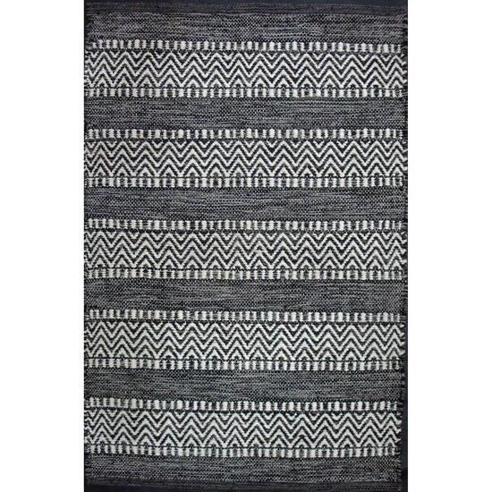 Avocado Décor Black Dhurrie Largo Rug - 3.3ft. x 4.6ft.
