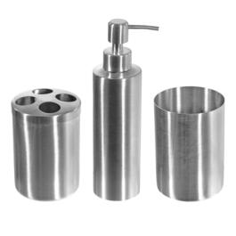 Anya Stainless Steel Bathroom Set - 3pc.