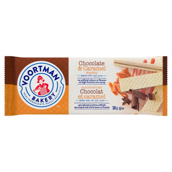 Voortman Bakery Chocolate and Caramel Wafers - 300g
