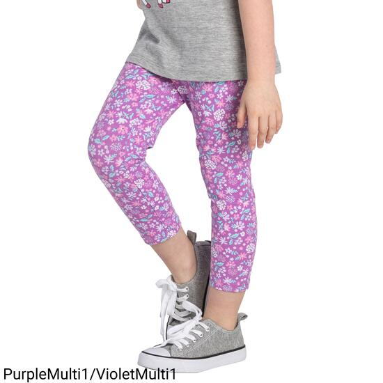MONKEY BARS Girls Printed Capri - 2-6X