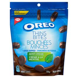 Christie Oreo Thins Mint Creme Sandwich Cookies - 170g