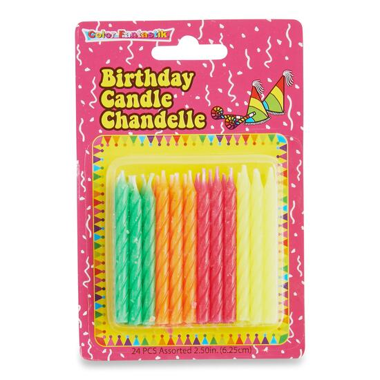 Spiral Birthday Candles - 24pk.