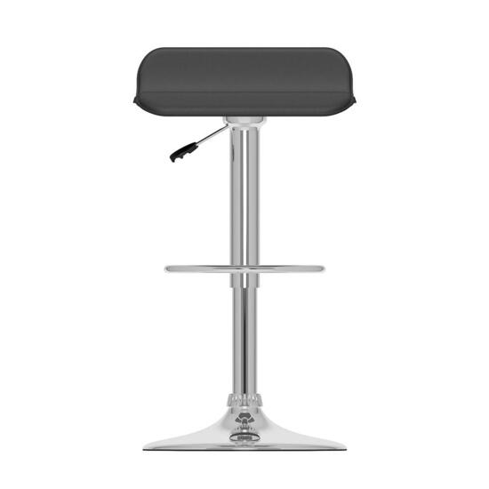 CorLiving Curved Black Adjustable Bar Stool - Set of 2