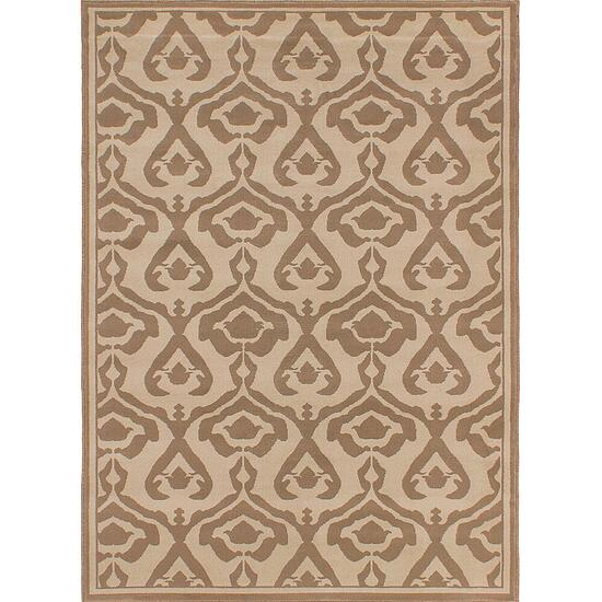 eCarpetGallery Crown Cream Ivory Polypropylene Rug - 5.3ft. x 7.4ft.