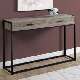 Monarch Specialties Dark Taupe and Black Console Table - 48 in.