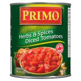 Primo Diced Tomatoes Herb and Spices - 796ml