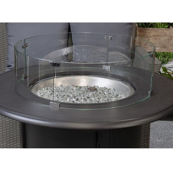 Paramount Round Fire Pit Wind Guard Glass - 28in.