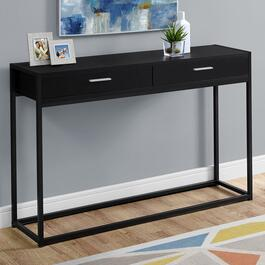 Monarch Specialties Black Console Table - 48 in.