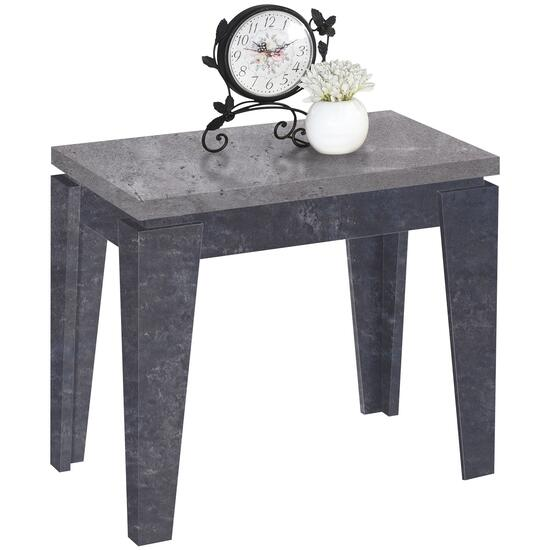 Titus Two-Tone Concrete Finish Wood End Table