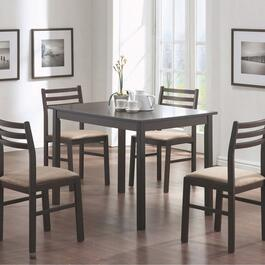 Monarch Specialties Cappuccino Veneer Dining Set - 5pc.