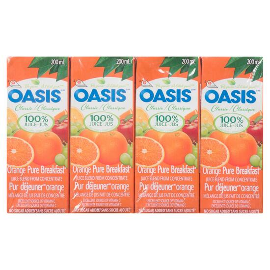 Oasis Classic Orange Juice 8pk. - 200 ml