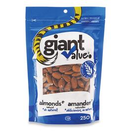 Giant Value Natural Almonds - 250g