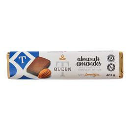 Queen T Almonds Chocolate Bar - 42.5g